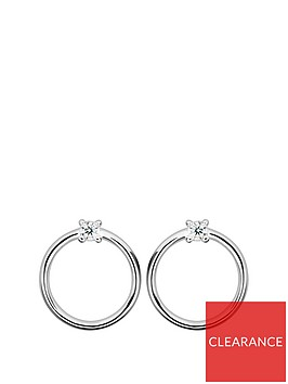 the-love-silver-collection-sterling-silver-circle-cubic-zirconia-stud-earrings