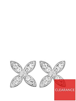 the-love-silver-collection-sterling-silver-cubic-zirconia-flower-stud-earrings