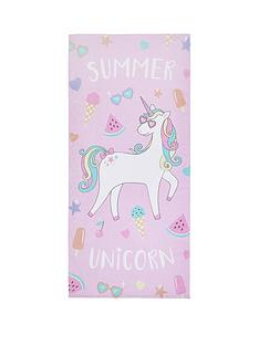 catherine-lansfield-unicorn-beach-towel