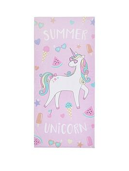 catherine-lansfield-unicorn-beach-towel