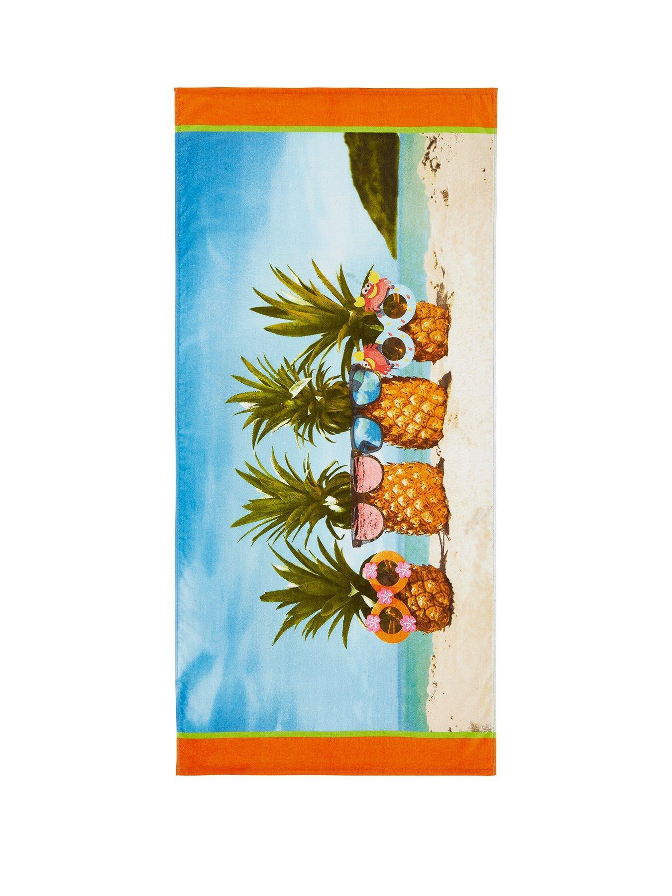 Catherine Lansfield Mermaid Beach Towel Blue 76 x 160 cm