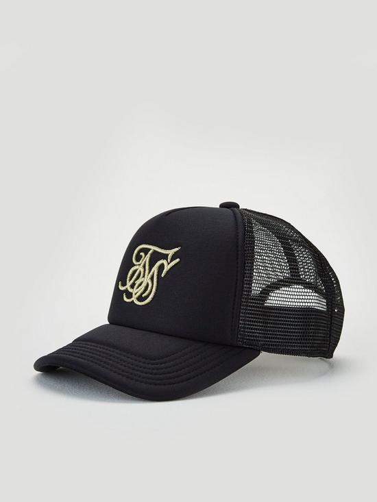 fa9185c2 Sik Silk Foam Trucker Cap - Black/Gold | very.co.uk