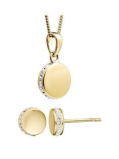 evoke-gold-plated-sterling-silver-swarovski-crystal-round-earrings-necklace-set