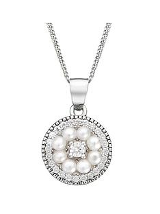 love-pearl-sterling-silver-cubic-zirconia-freshwater-pearl-vintage-style-disc-pendant-necklace