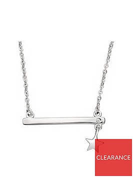 the-love-silver-collection-sterling-silver-cubic-zirconia-bar-pendant-necklace-with-star-charm