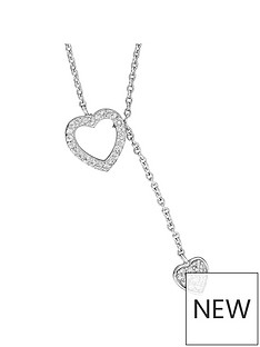 the-love-silver-collection-sterling-silver-cubic-zirconia-heart-lariat-necklace