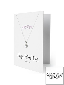 the-love-silver-collection-sterling-silver-white-cubic-zirconia-halo-pendant-necklace-with-happy-mothers-day-greetings-card