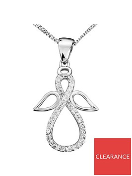 the-love-silver-collection-sterling-silver-cubic-zirconia-infinity-angel-pendant-necklace