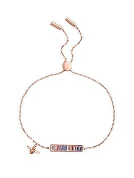 olivia-burton-olivia-burton-18kt-rose-gold-plated-rainbow-bee-swarovski-crystal-baguette-bar-bracelet