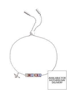 olivia-burton-olivia-burton-silver-plated-rainbow-bee-swarovski-crystal-baguette-bar-bracelet