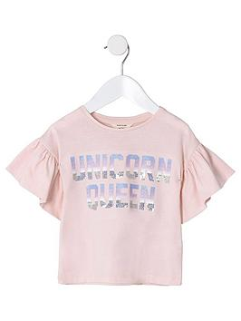river-island-mini-mini-girls-unicorn-queen-t-shirt-pink
