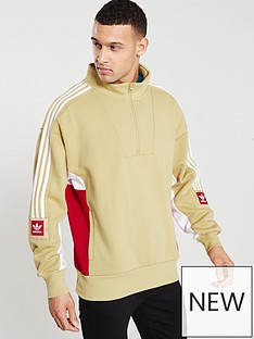 adidas-originals-modular-half-zip-top-beigenbsp