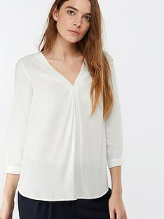 monsoon-salvina-twist-front-blouse-ivory