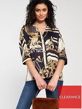 river-island-printed-shirt-navy