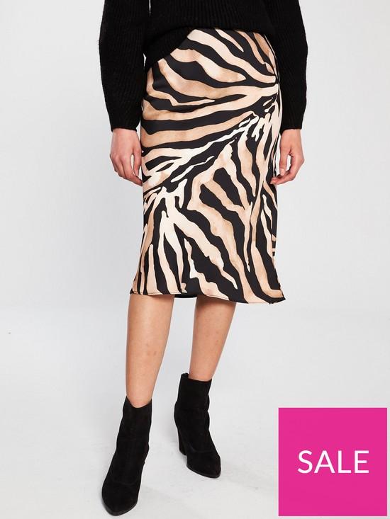 f10710b947 River Island River Island Satin Midi Skirt - Tiger Print | very.co.uk