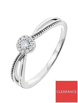 love-diamond-9ct-white-gold-10-point-diamond-cluster-milgrain-shoulder-ring