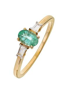 love-gem-9ct-gold-emerald-and-baguette-cut-diamond-set-ring