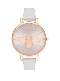 olivia-burton-olivia-burton-silver-sunray-3d-bee-dial-white-leather-strap-ladies-watch