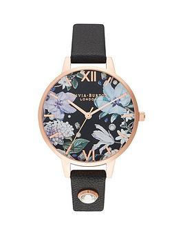 olivia-burton-olivia-burton-bejewelled-florals-black-demi-dial-black-swarovski-set-black-leather-strap-ladies-watch