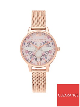 olivia-burton-olivia-burton-meant-to-bee-blush-and-floral-heart-with-silver-3d-bee-demi-dial-rose-gold-stainless-steel-mesh-strap-ladies-watch