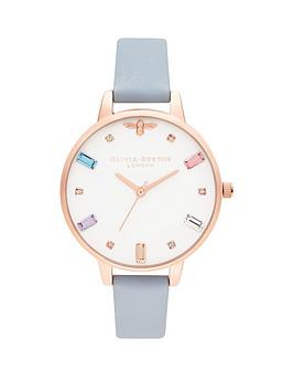 olivia-burton-olivia-burton-rainbow-bee-white-crystal-set-and-rose-gold-detail-demi-dial-chalk-blue-leather-strap-ladies-watch