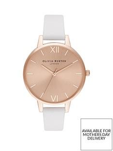 olivia-burton-olivia-burton-blush-sunray-demi-dial-white-leather-strap-ladies-watch
