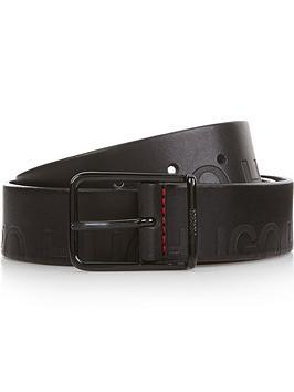 hugo-mens-gal-l-logo-embossed-leather-belt-black