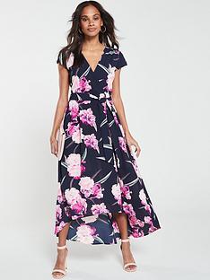 2a18e7c749 AX Paris Floral Dip Hem Dress - Navy