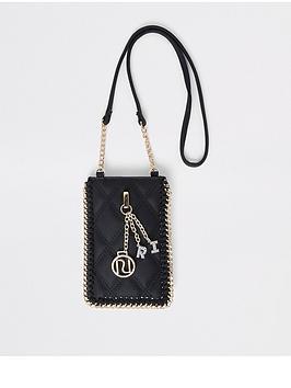 river-island-girls-mini-cross-body-pouch-bag-black