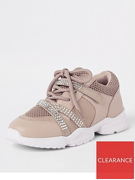 river-island-girls-diamante-lace-up-chunky-trainers-pink