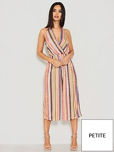 0ee584174bf AX Paris Petite Striped Halter Neck Jumpsuit - Multi