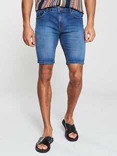 river-island-mid-blue-skinny-denim-shorts
