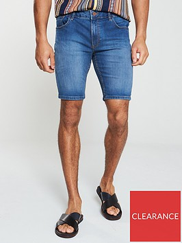 river-island-mid-blue-skinny-denim-shorts