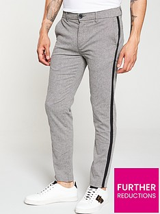 river-island-grey-textured-skinny-trousers