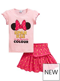 minnie-mouse-girls-2-piece-minnie-mouse-sparkle-top-and-skirt-set-pink
