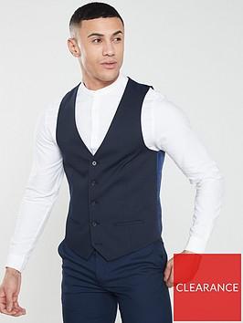 river-island-edward-textured-navy-waistcoat