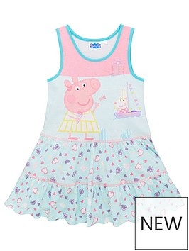 peppa-pig-girlsnbspbeach-summer-dress-pinkblue