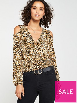 v-by-very-cold-shoulder-wrap-top-leopard-print