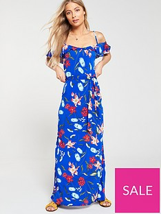 v-by-very-cold-shoulder-floral-maxi-dress-blue