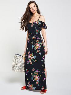 f0fb7c74bd V by Very Cold Shoulder Floral Maxi Dress - Multi