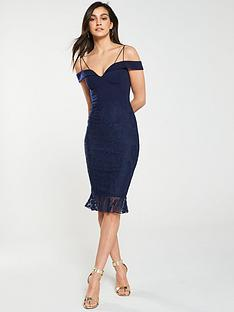 0dc44227a4af AX Paris 2-in-1 Lace Strappy Dress - Navy