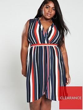 ax-paris-curve-sleeveless-wrap-midi-dress-stripe