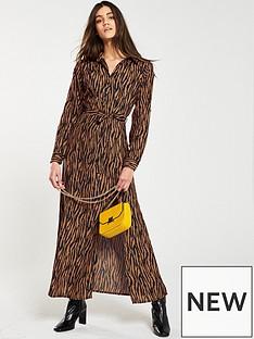 ax-paris-belted-animal-print-shirt-dress-camel