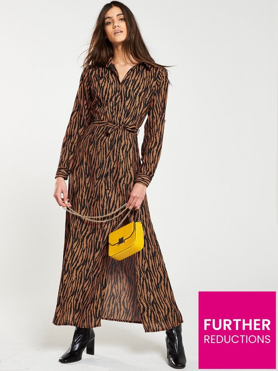 185a80c348654 AX Paris Belted Animal Print Shirt Dress - Camel | very.co.uk
