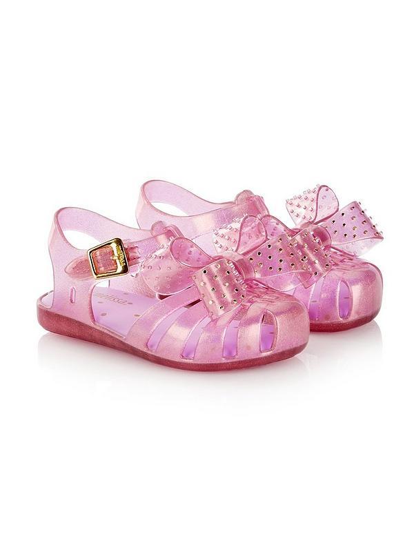 3d54d5782f Mini Melissa Mini Aranha Disco Bow Jelly Shoes - Pink