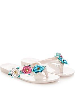 mini-melissa-kids-harmonic-nature-toe-post-sandals--nbspcream