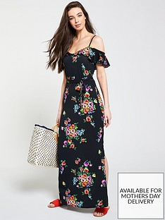 v-by-very-petite-cold-shoulder-floral-maxi-dress-floral-print