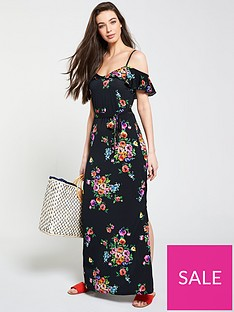 v-by-very-petite-cold-shoulder-floral-maxi-dress-floral-print