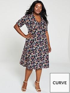 035e8c670b Monsoon Curve Sarita Print Tie Front Midi Dress - Multi