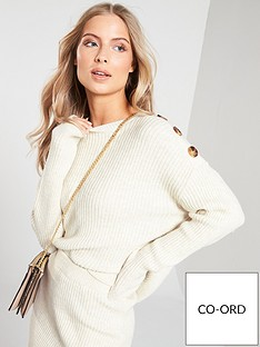 v-by-very-button-shoulder-detail-co-ord-jumper